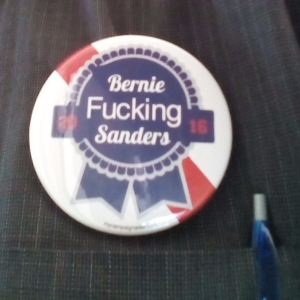 "Campaign Button: ""Bernie Fucking Sanders"""