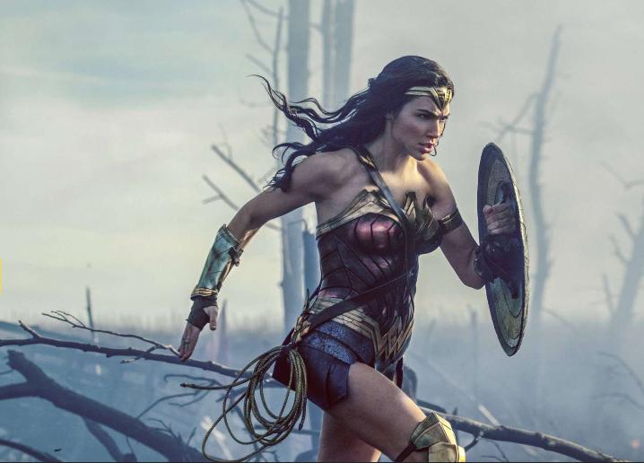 Wonder Woman in battle
